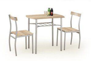 """Zestaw """"Lanci"""" stół + 2 krzesła - dąb sonoma"""
