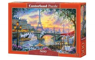 Puzzle Castor 500 - Czas na herbatkę w Paryżu, Tea Time in Paris