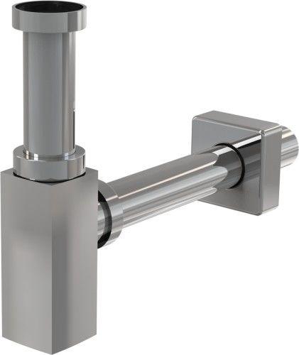Półsyfon umywalkowy 50 mm , DN32 mosiądz chromowany KWADRATOWY