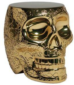 Stołek i stolik boczny Mexico złoty QueeBoo