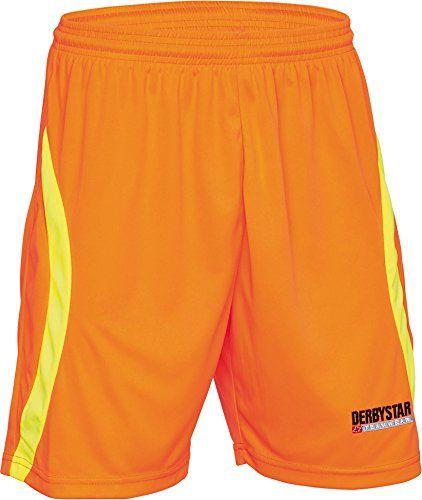 Derbystar Spodnie bramkarskie dla dorosłych Aponi, męskie, 6637030750, pomarańczowe/neongelb, S