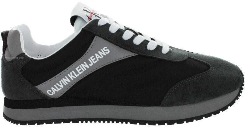 Buty sportowe męskie Calvin Klein Jeans Jerrold czarne S0615 MULTI BLACK