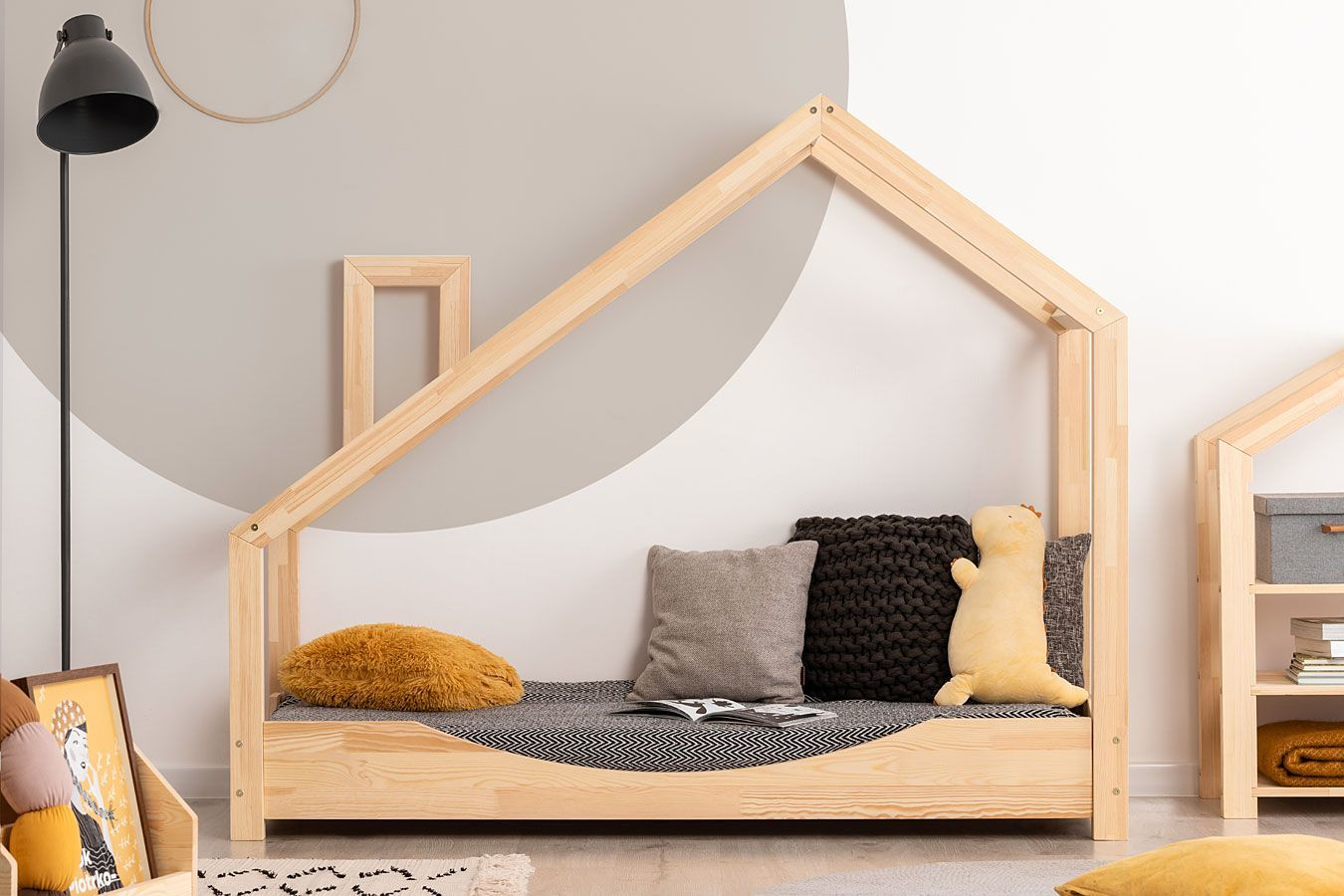 Drewniane łóżko dziecięce domek Lumo 6X - 23 rozmiary