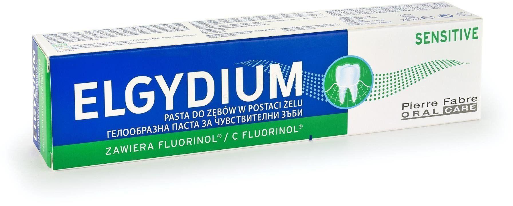 ELGYDIUM Sensitive - Pasta do zębów wrażliwych 75 ml