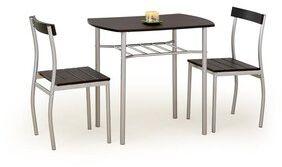 """Zestaw """"Lanci"""" stół + 2 krzesła - wenge"""