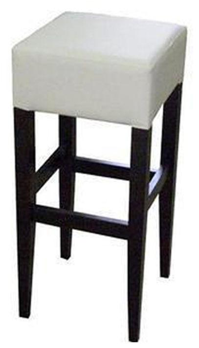 Krzesło barowe Milo, skórzane, eko skóra, tkanina