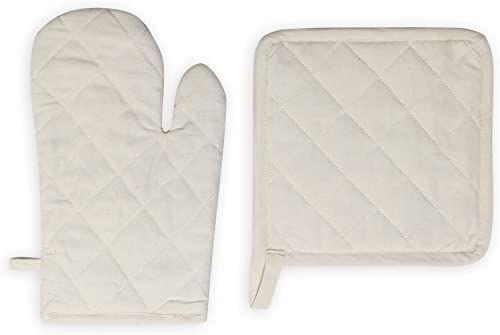Rękawica i łapka do garnków bawełna PANAMA ecru