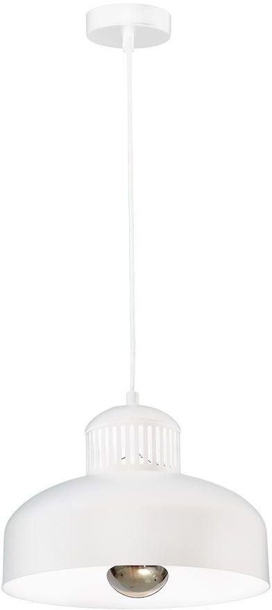 Milagro REYKJAVIK WHITE MLP5719 lampa wisząca biała metalowa klosz delikatnie eksponuje żarówkę 1xE27 30 cm