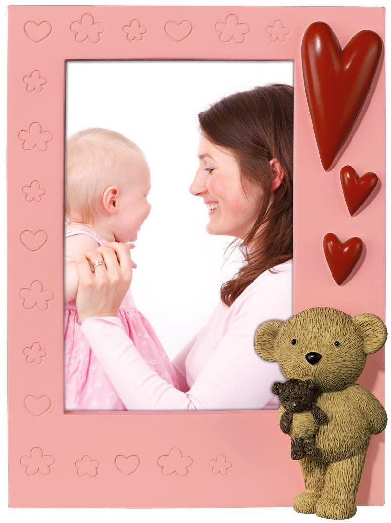 Hama Plastikowy niedźwiedź serce 10 x 15 cm ramka na zdjęcia
