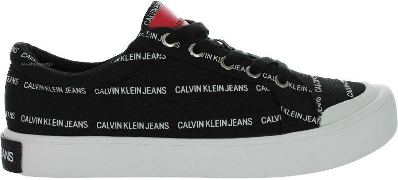 Trampki męskie Calvin Klein Jeans Donald czarneS0574 MARQUEE