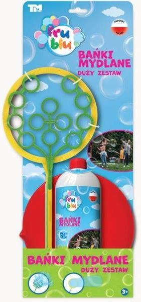 Bańki mydlane Fru Blu Big set + płyn 0,5L - TM Toys