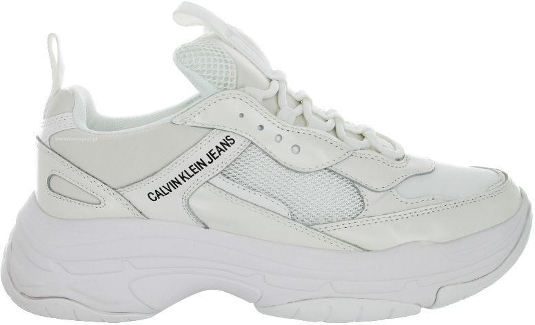Buty sportowe męskie Calvin Klein Marvin białeS0591 BRIGHT WHITE
