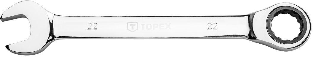 Klucz płasko-oczkowy z grzechotką, 22 mm