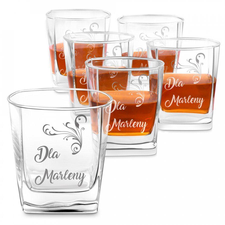 Szklanki grawerowane do whisky x6 komplet dla niej