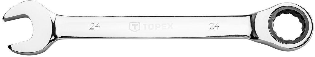Klucz płasko-oczkowy z grzechotką, 24 mm