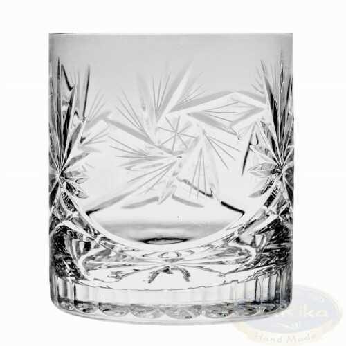Kryształowe szklanki do whisky 350ml Młynek 6 sztuk