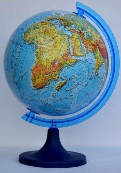 Globus fizyczny 3D 25 cm