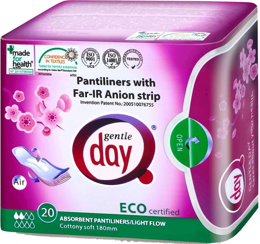 Wkładki higieniczne z paskiem anionowym i warstwą wchłaniającą wilgoć 20 szt. - gentle day