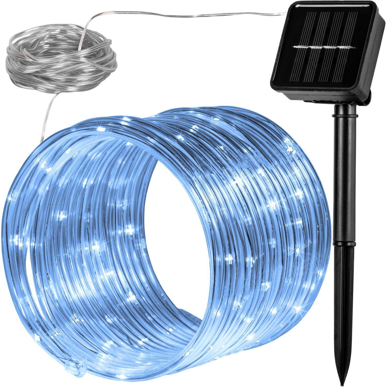 WĄŻ ŚWIETLNY SOLARNY 100 LED LAMPKI OGRODOWE ŚWIĄTECZNE ZIMNA BIEL