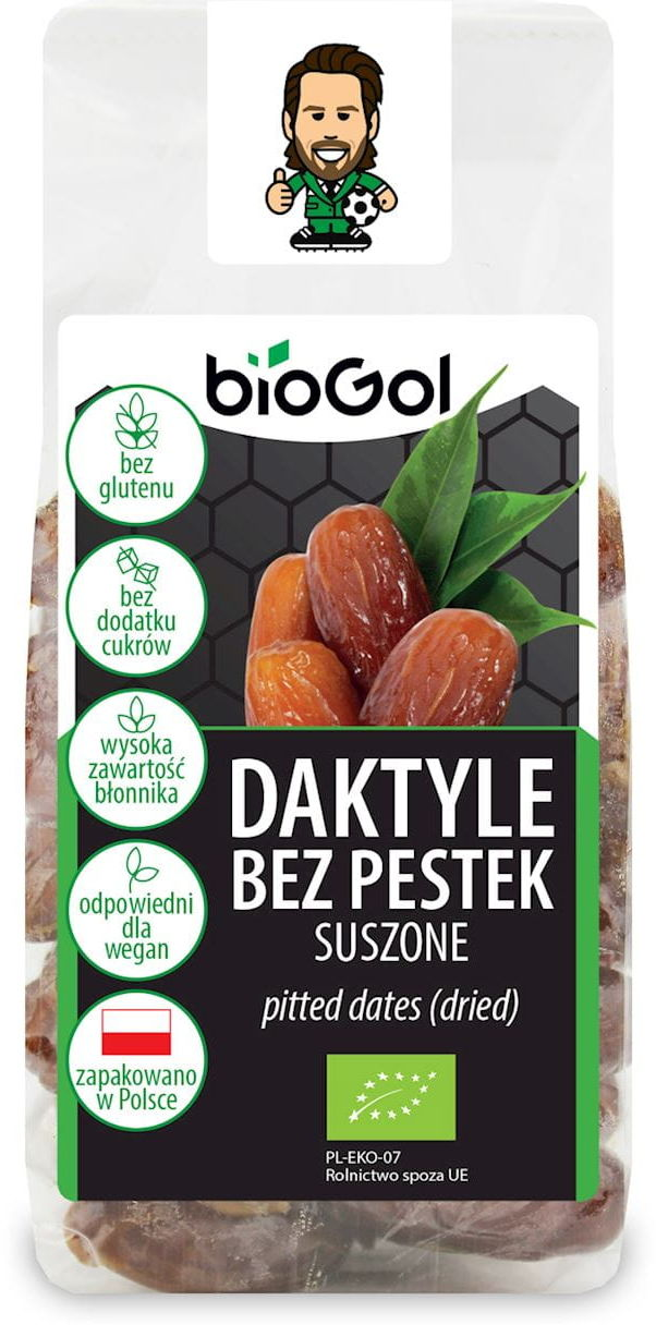 DAKTYLE BEZ PESTEK SUSZONE BEZGLUTENOWE BIO 150 g - BIOGOL