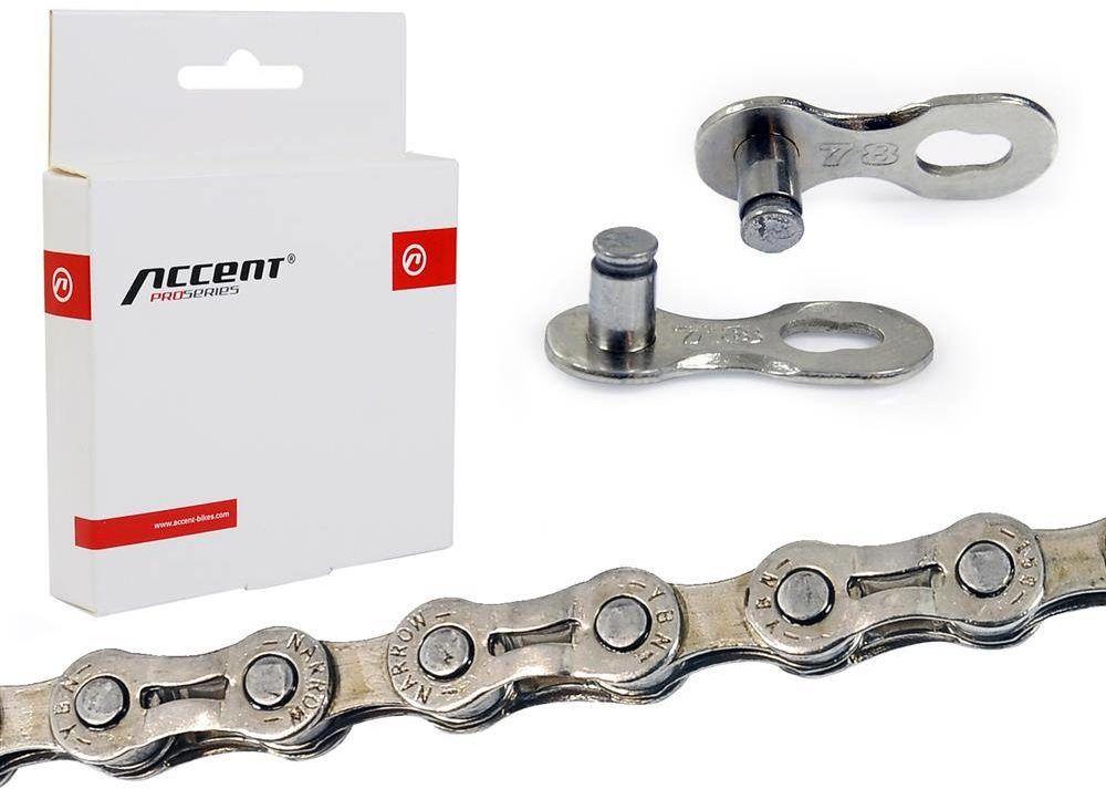 Łańcuch Accent AC-881 PRO 6/7/8-rzędowy srebrny ażurowe ogniwa