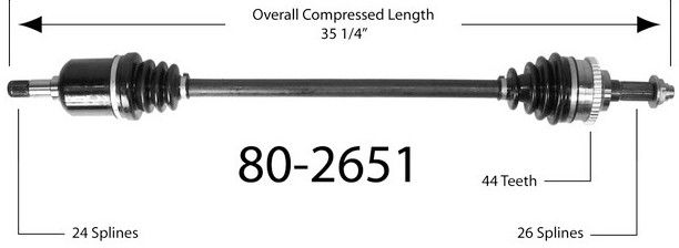 Półoś napędowa przednia 80-2651