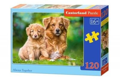 Puzzle Castor 120 - Dwa Pieski, Always Together