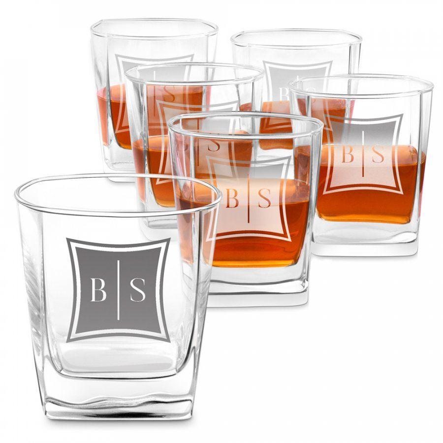 Szklanki grawerowane do whisky x6 komplet inicjały dla pary na ślub r