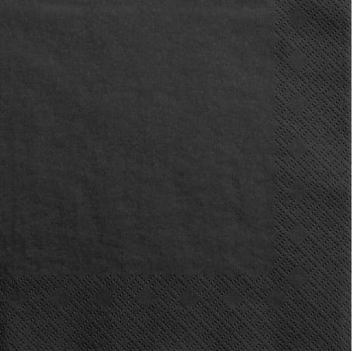 """Serwetki papierowe """"kolorowe party"""" czarne"""