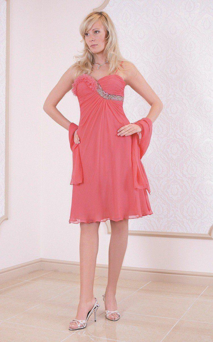 FSU723 Suknie wizytowe Sukienka KORALOWY
