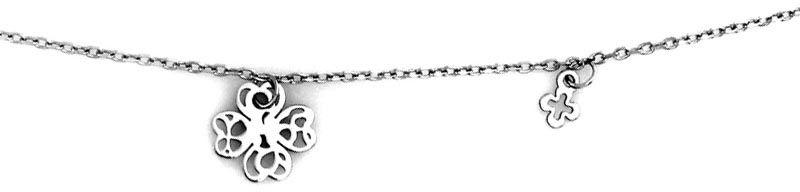 Srebrny naszyjnik 925 z ażurową koniczyną 1,47g