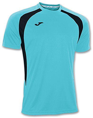 Joma Champion III T-Shirt, unisex, 100014.011.6XS-5XS, turkusowy, neonowy czarny - 011, 6XS-5XS