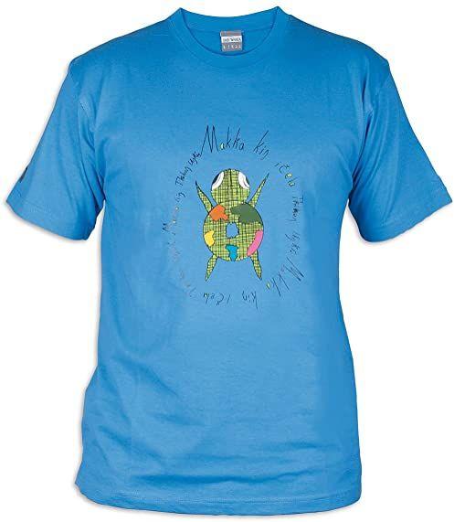 Tatonka Męski T-shirt Makha niebieski błękit francuski S