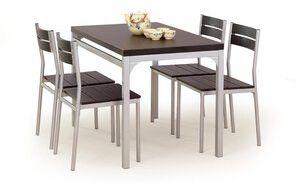 """Zestaw """"Malcolmi"""" stół + 4 krzesła - wenge"""
