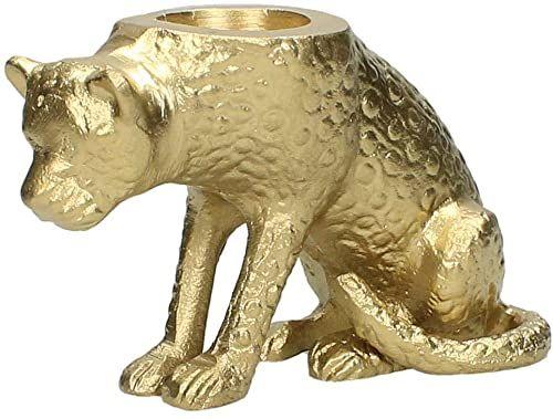 Świecznik  aluminium  złoty