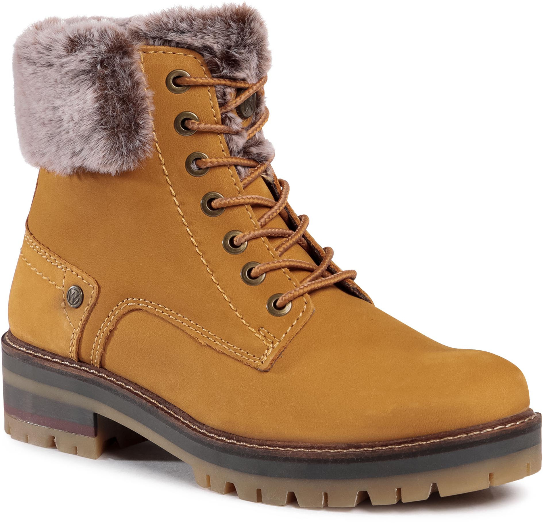 Botki WRANGLER - Denver Alaska WL02540A Tan Yellow 024