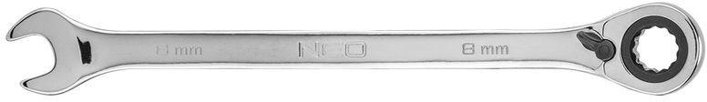 Klucz płasko-oczkowy z grzechotką i przełącznikiem 8mm 09-320