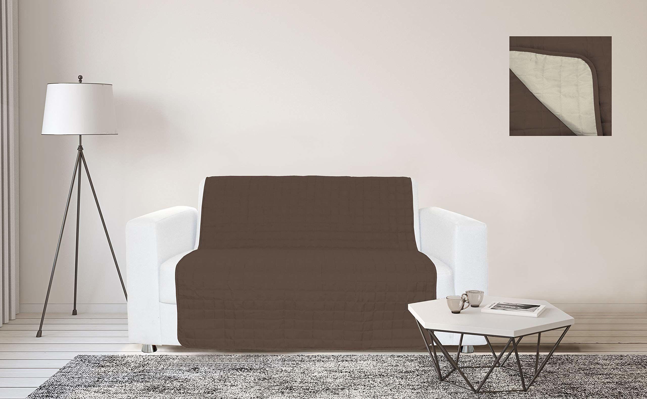 Sogni e Capricci Wodoodporny pasek na sofę, 125 x 190 cm, brązowy/kremowy, 2 miejsca