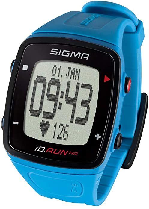 Sigma Sport iD.RUN HR Pacific Blue, zegarek do biegania GPS, pomiar tętna na nadgarstku, monitor aktywności, niebieski