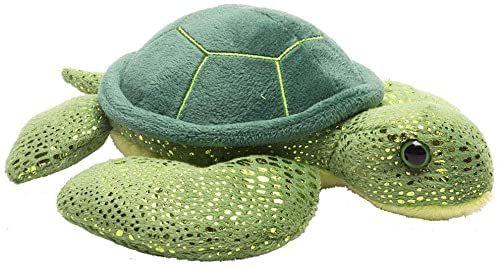 Wild Republic 16262, zielony żółw morski pluszowy Hug''ems, przytulnie miękka zabawka, prezenty dla dzieci, 18 cm