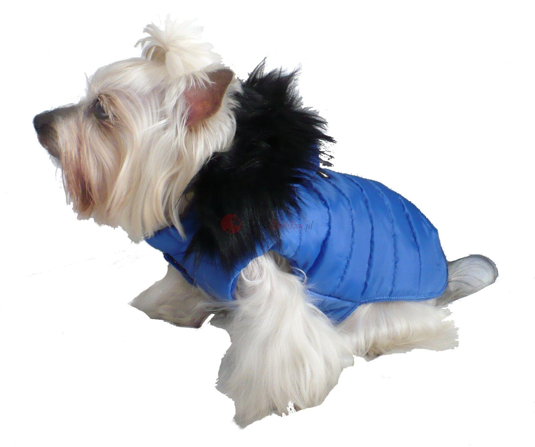 Ręcznie szyta kurtka exclusive niebieska