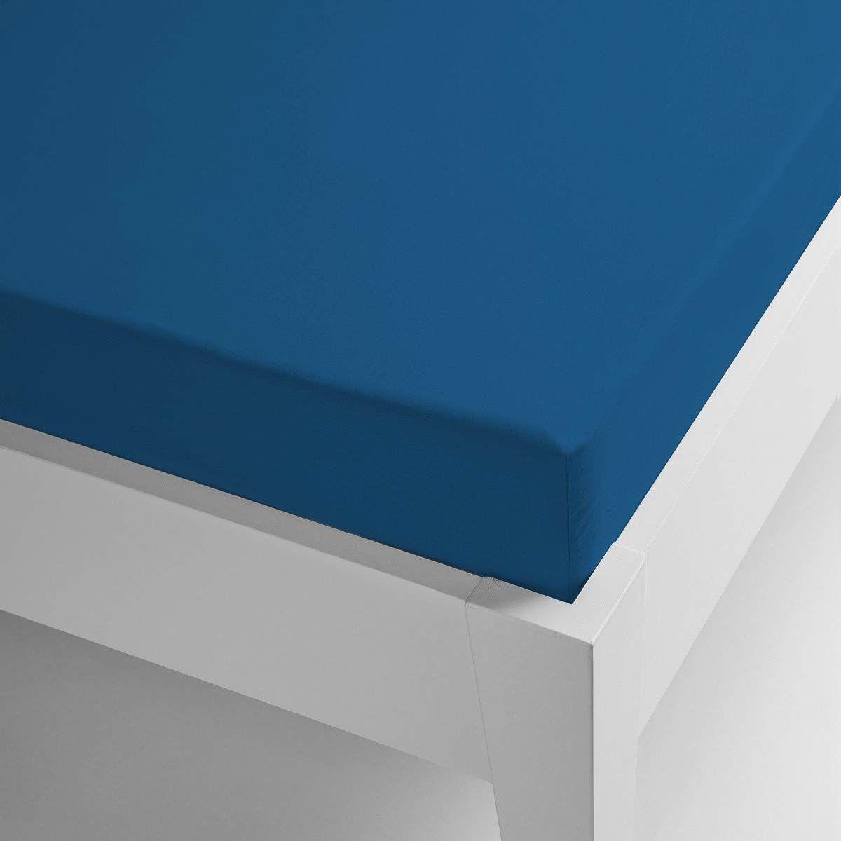 Miracle dom mikrofibra termiczna prześcieradło Coral gładkie kolory 105 x 200 niebieski