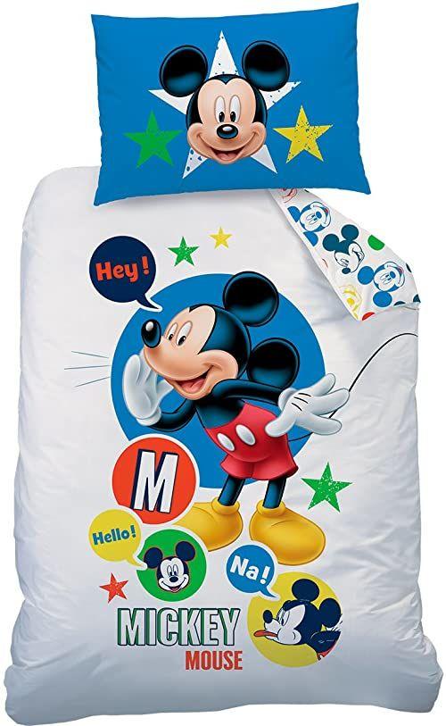 Disney Mickey Expressions 140 x 200 + 70 x 90 cm bawełna Renforce, 140 x 200 cm, 2 sztuki