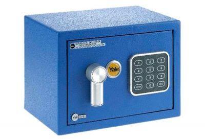 YSV/170/DB1 Mały sejf domowy z zamkiem elektronicznym Yale - niebieski