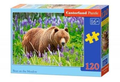 Puzzle Castor 120 - Niedźwiedź na łące, Bear on the Meadow