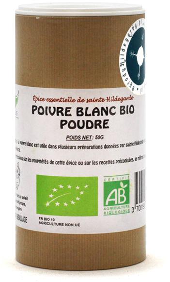 Przyprawy i zioła - Pieprz biały 50g Bio*, - 50008