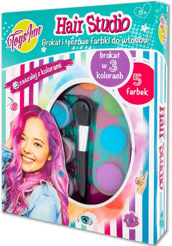 Farbki i brokat do włosów Hair Studio 8 + Stnux