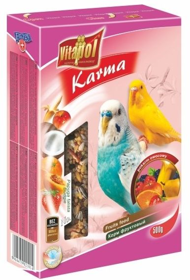 VITAPOL - Pokarm owocy dla papugi falistej 500g