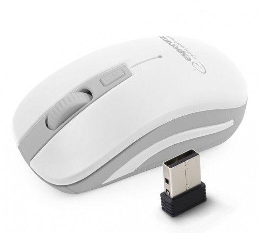 EM126EW Esperanza mysz bezprz. 2.4ghz 4d opt. usb uranus biało/szara