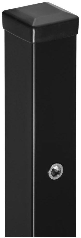 Słupek bramowo-furtkowy 7 x 7 x 200 cm czarny POLBRAM